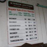 kidron-auction-times