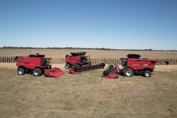 Redesigned Axial-Flow 140 series combines and Steiger