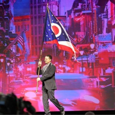 OFBF President Frank Burkett proudly represents Ohio.